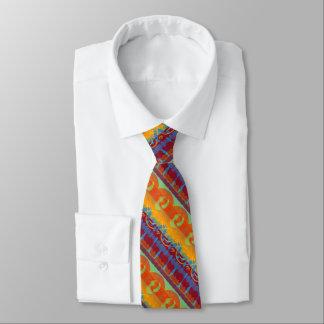 Colorful Artistic Stripe Pattern Tie
