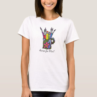 Colorful Artists Brushes and Pencils T-Shirt