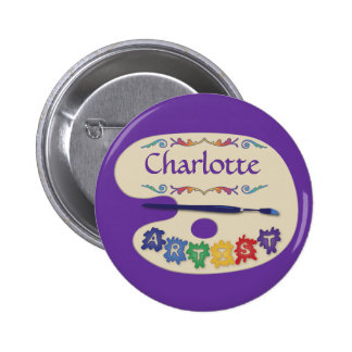 Colorful Artists Palette Name Badge