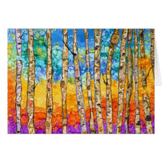 Colorful Aspen Trees 31016 Greeting Card
