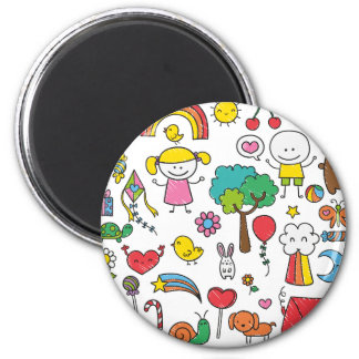 Colorful Assorted Children's Drawing | Magnet
