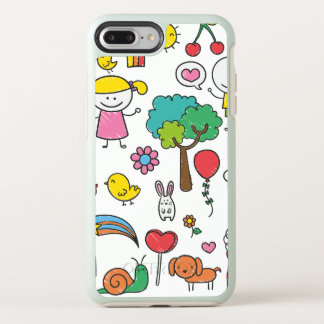 Colorful Assorted Children's Drawing   Phone Case