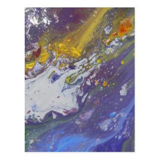 Colorful Asteroid Postcard