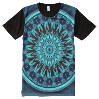 Colorful Astral Angel Meditation Mandala Art All-Over Print T-Shirt