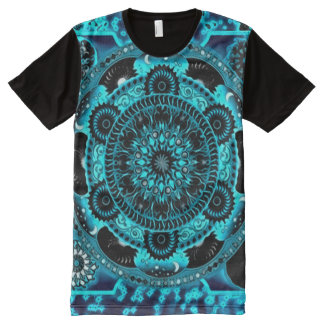 Colorful Astral Soul Mandala Indie Art All-Over Print T-Shirt