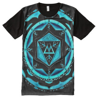 Colorful Astral Spirit Indie Mandala Art All-Over Print T-Shirt