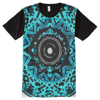 Colorful Astral Void Meditation Mandala Art All-Over Print T-Shirt