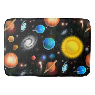 Colorful Astronomy Space Bath Mat