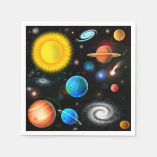 Colorful Astronomy Space Cocktail Napkins Paper Napkin