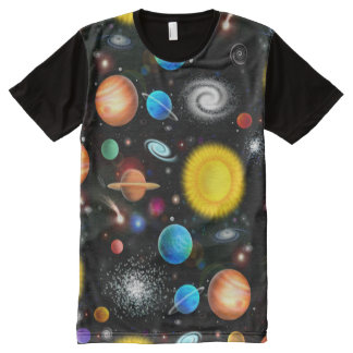 Colorful Astronomy Space Shirt All-Over Print T-Shirt