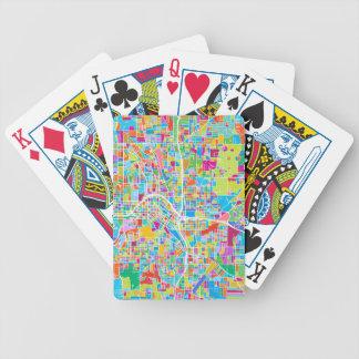 Colorful Atlanta Map Bicycle Playing Cards