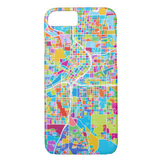 Colorful Atlanta Map iPhone 8/7 Case