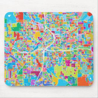 Colorful Atlanta Map Mouse Pad