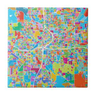 Colorful Atlanta Map Tile