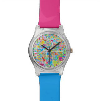 Colorful Atlanta Map Watch