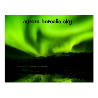Colorful Aurora Borealis Sky Postcard