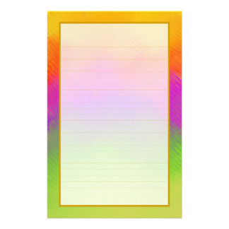 Colorful Aurora IV Fine Lined Stationery