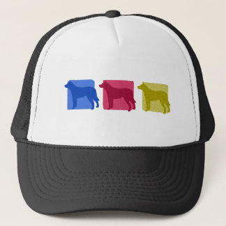 Colorful Australian Cattle Dog Silhouettes Hat