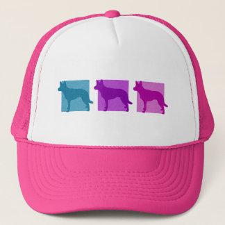 Colorful Australian Kelpie Silhouettes Trucker Hat