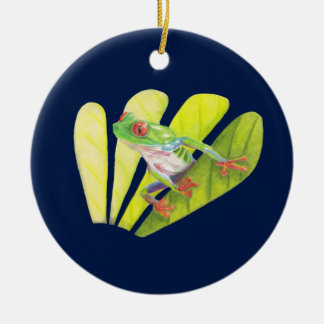 Colorful Australian Tree Frog Ceramic Ornament