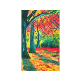 Colorful Autumn Forest painting Canvas Print