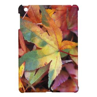 Colorful autumn leaf ipad mini cover