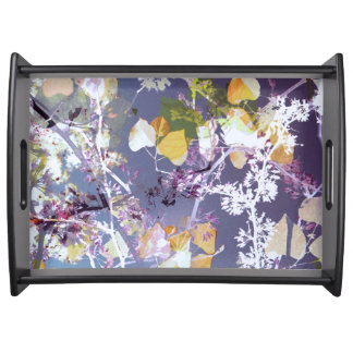 Colorful Autumn Leave Serving Tray