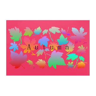 Colorful autumn leaves acrylic wall art