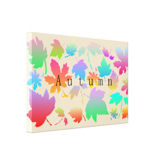 Colorful autumn leaves canvas print
