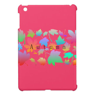 Colorful autumn leaves iPad mini case