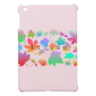 Colorful autumn leaves iPad mini cover