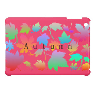 Colorful autumn leaves iPad mini cover