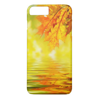 Colorful autumn leaves reflecting in the water iPhone 7 plus case