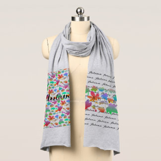 Colorful autumn leaves scarf