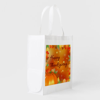 Colorful Autumn Leaves - Thanksgiving Reusable Bag