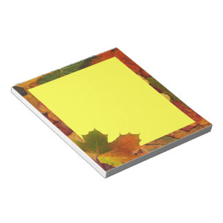 Colorful Autumn Notepad