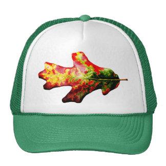 Colorful Autumn Oak Leaf Trucker Hats