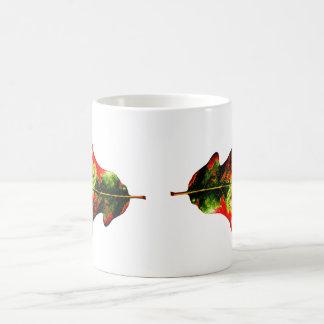 Colorful Autumn Oak Leaf Mugs
