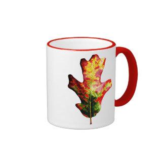 Colorful Autumn Oak Leaf Coffee Mug