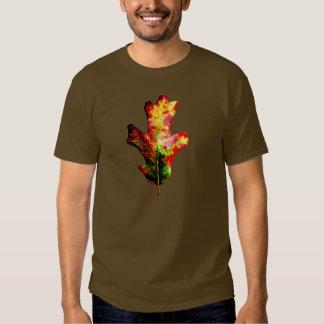 Colorful Autumn Oak Leaf Tee Shirts