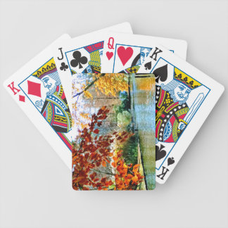 Colorful Autumn on the Water Bicycle Playing Cards