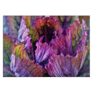 Colorful Autumn Ornamental Cabbage Cutting Board