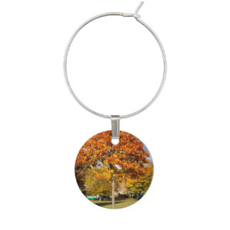 Colorful Autumn Tree Wine Charm