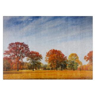 Colorful Autumn Trees Landscape Fall Season Cutting Board