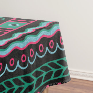 Colorful  Aztec Inca Mayan Pattern Tablecloth