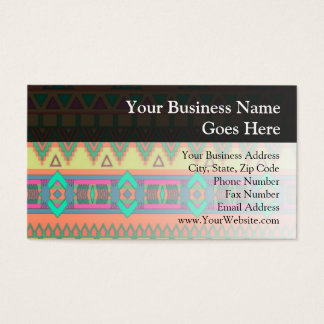 Colorful Aztec Pattern Business Card
