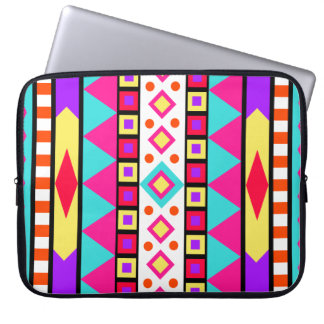 Colorful Aztec Pattern Neoprene Laptop Sleeve