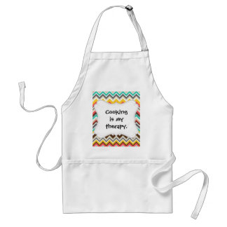 Colorful Aztec Tribal Chevron ZigZag Stripes Print Standard Apron