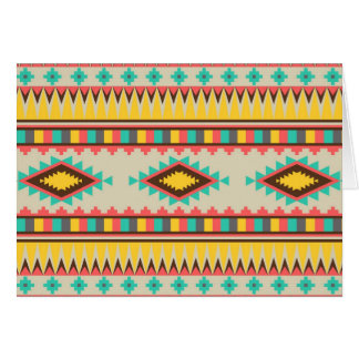 Colorful Aztec Tribal Native American Diamonds Card