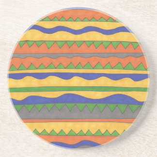 Colorful Aztec Tribal Pattern Coaster
